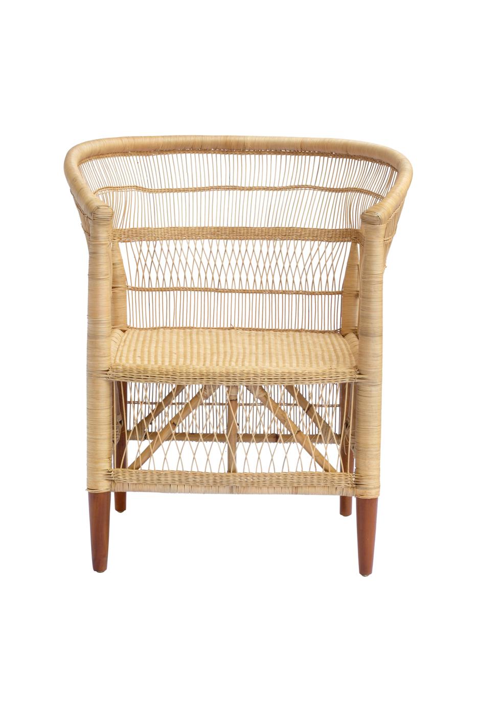 Malawi chair in rattan and bamboo