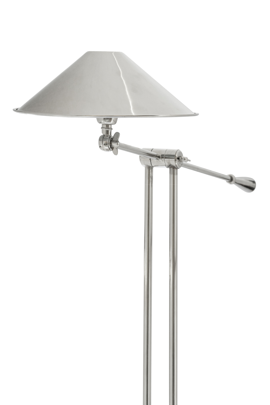 Lámpara de pie de metal con brazo ajustable