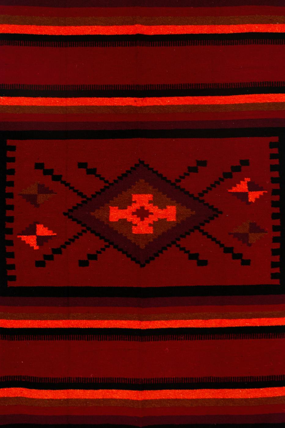 Tapete de lana Zapoteca-Diamantes