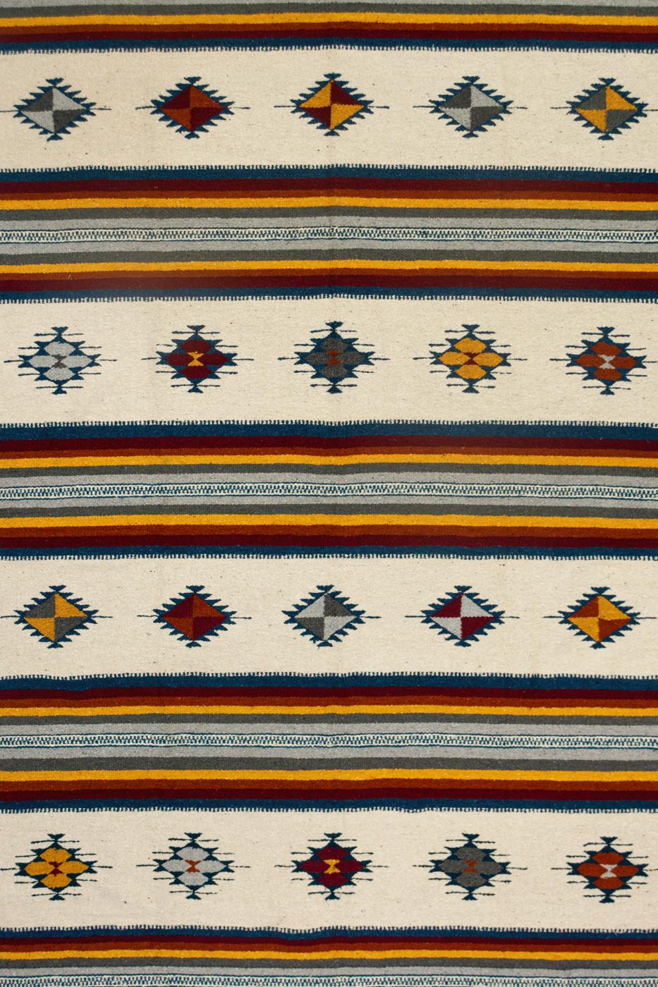 Tapete de lana Zapoteca-Rombos multicolor