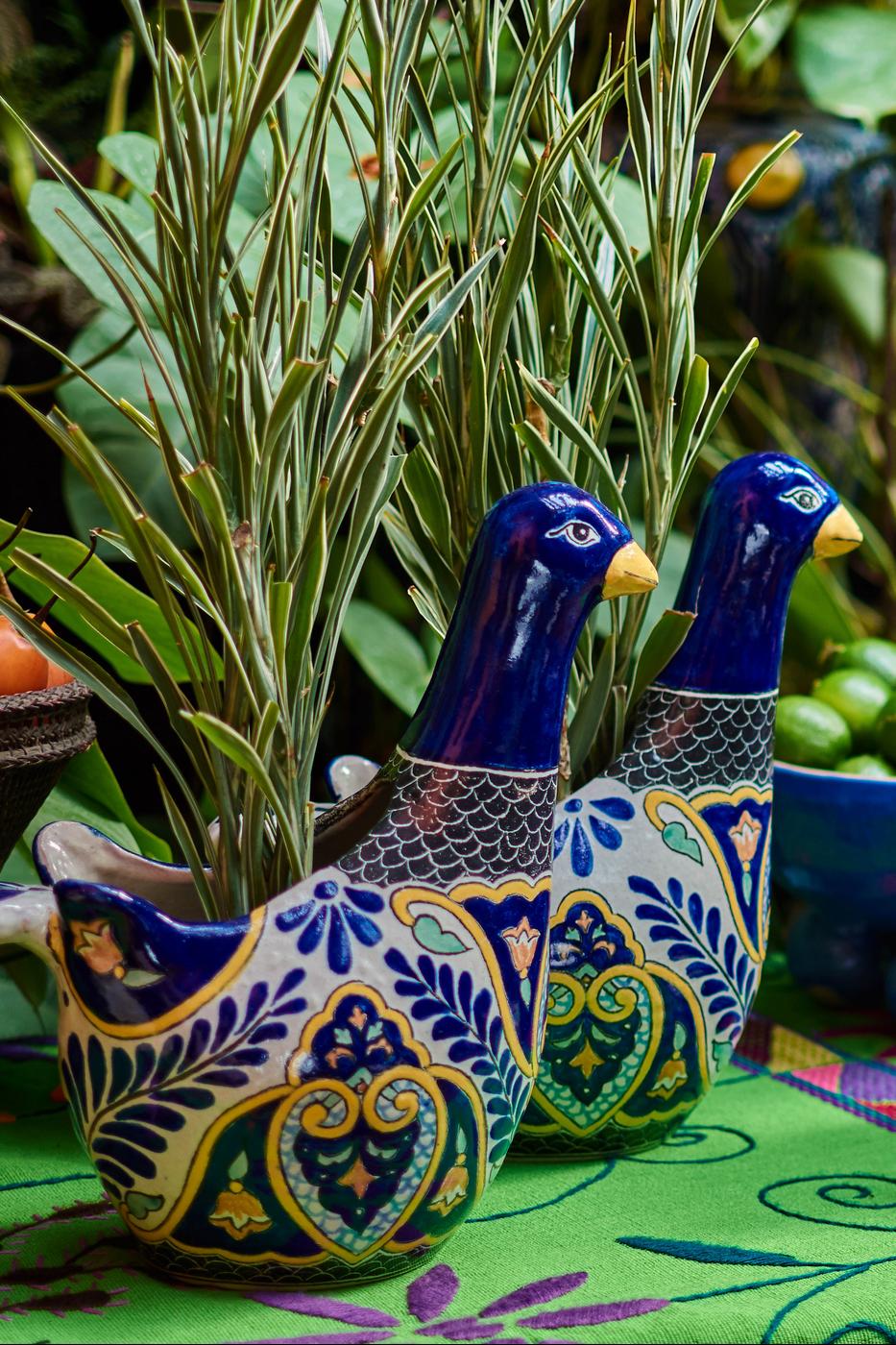 Matera de cerámica en forma paloma Uriarte Talavera