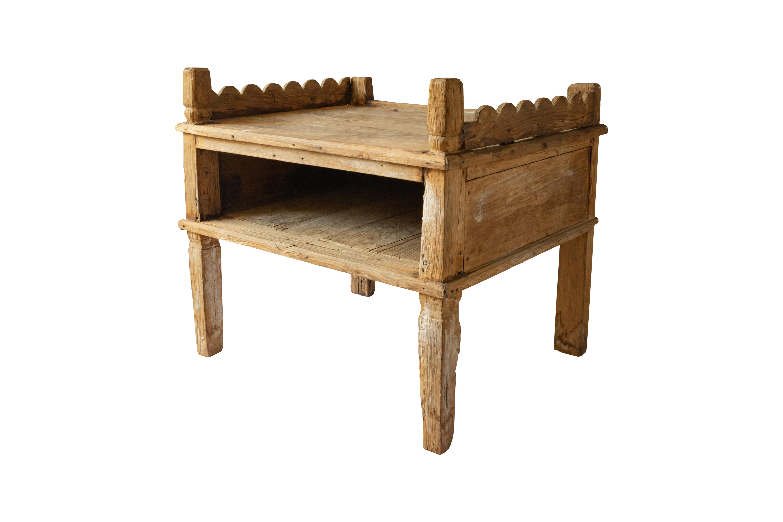 Teak wood side table