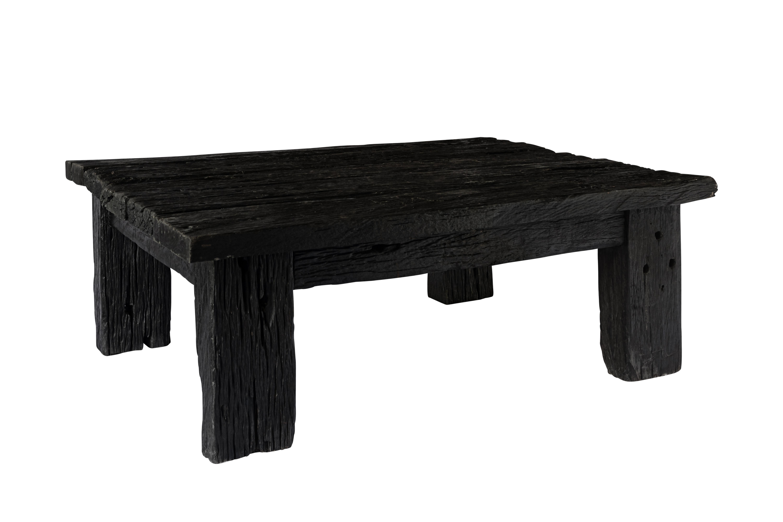 Mesa de centro en madera de rieles antiguos