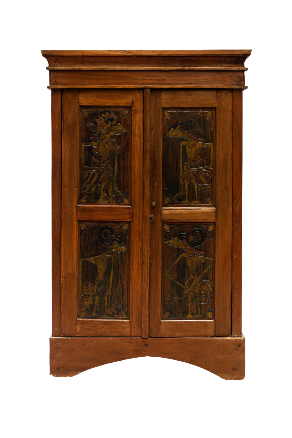 Indonesian cabinet  in wood figures Java