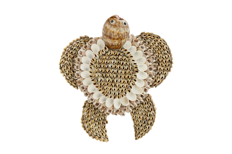 Tortuga decorativa caracoles