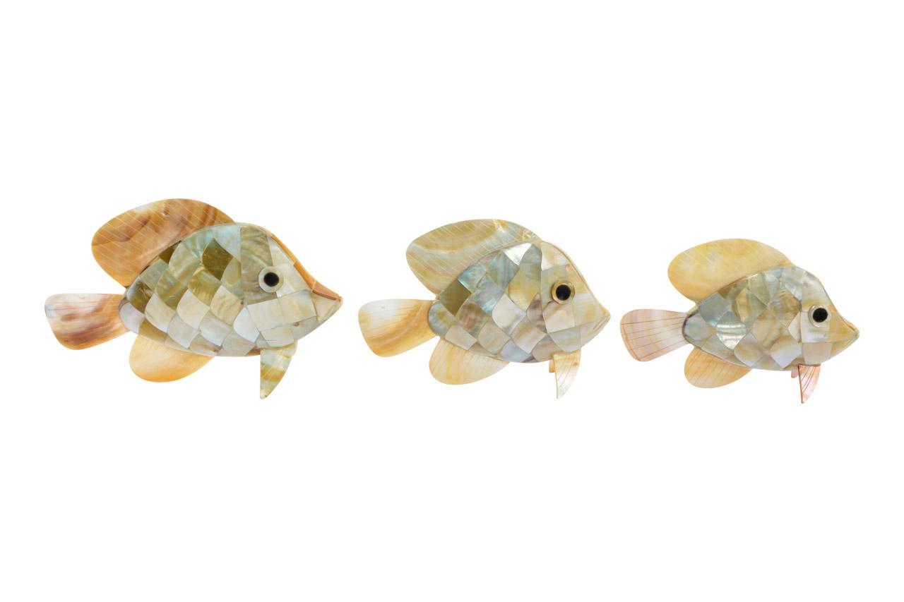 Set de Pescados decorativos en nácar
