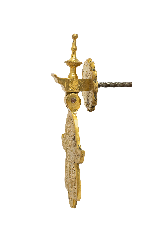 Aldaba para puerta en bronce Mano de Fátima
