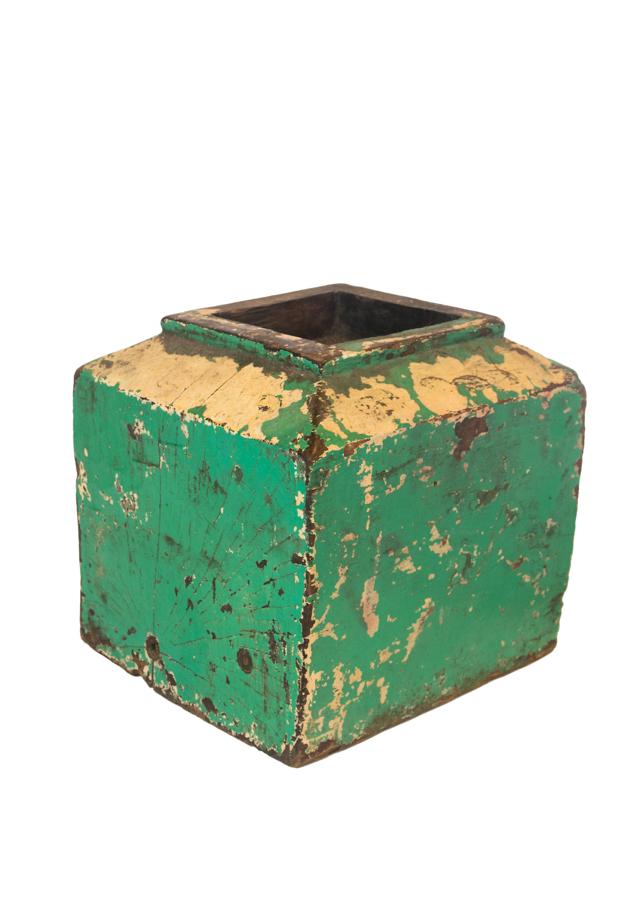 Portavela  vintange en madera- verde