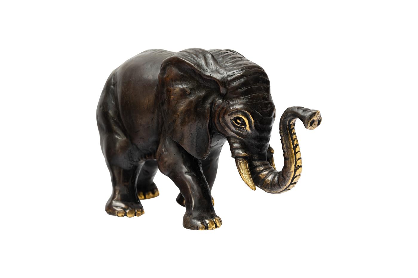 Elefante decorativo en bronce