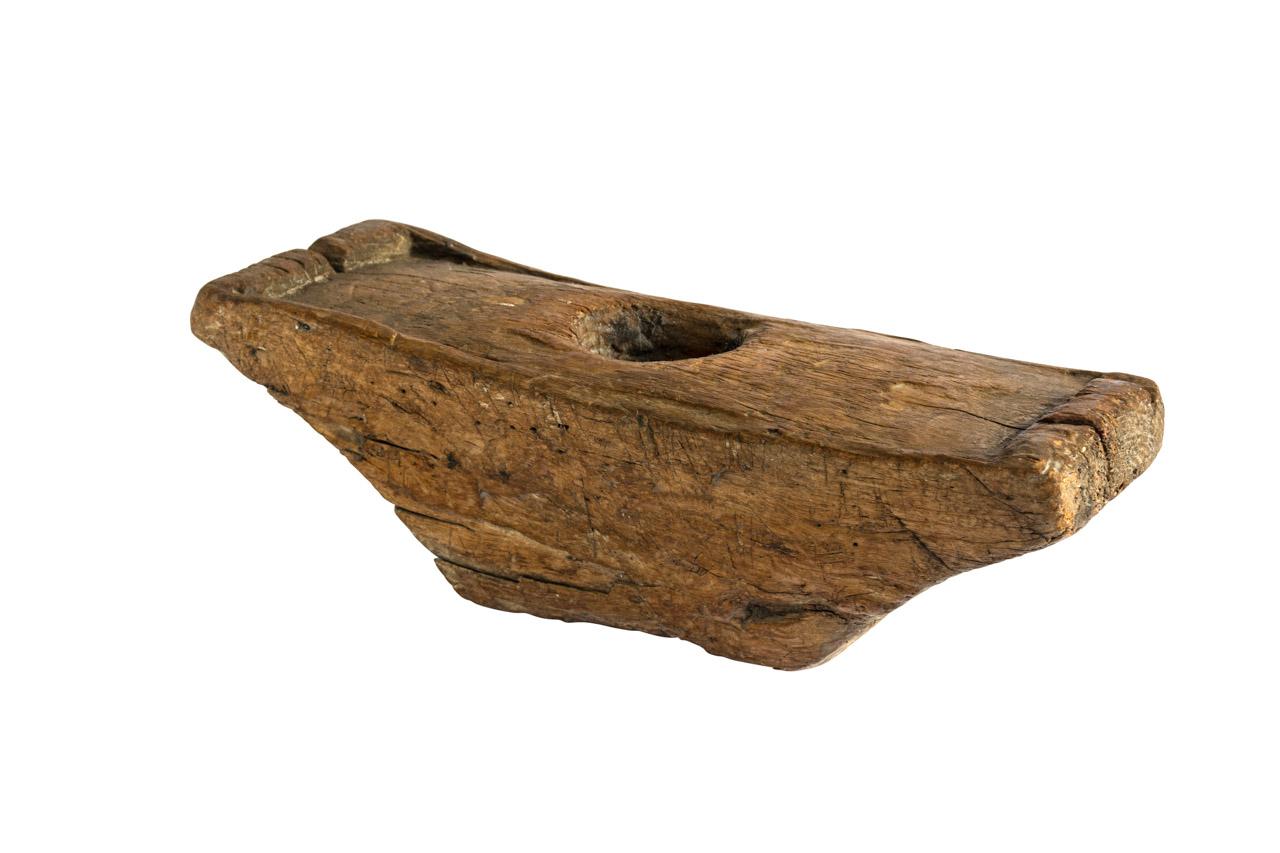 Lesung decorativo en madera forma Canoa