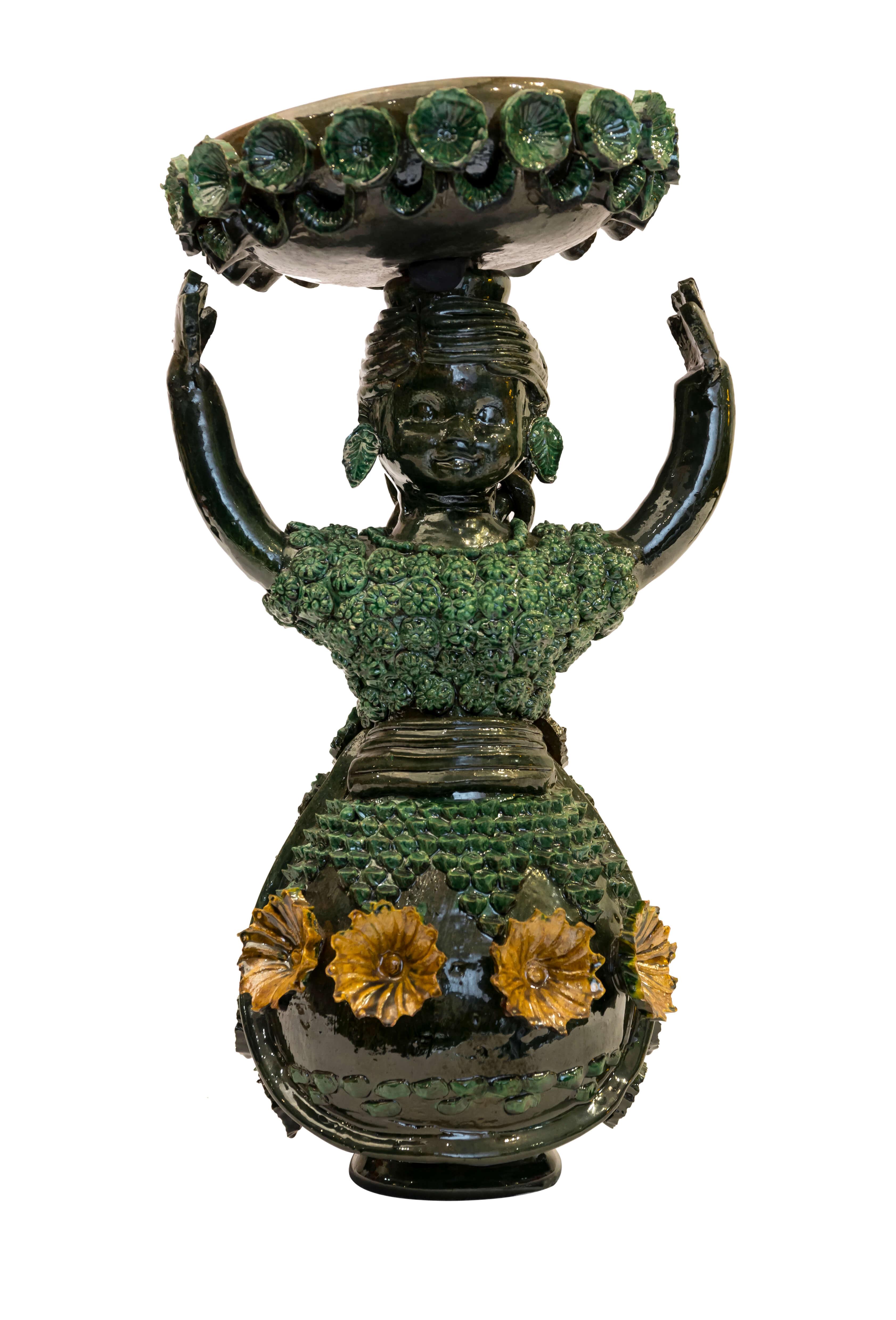 Muñeca decorativa en cerámica Mexicana pequeña