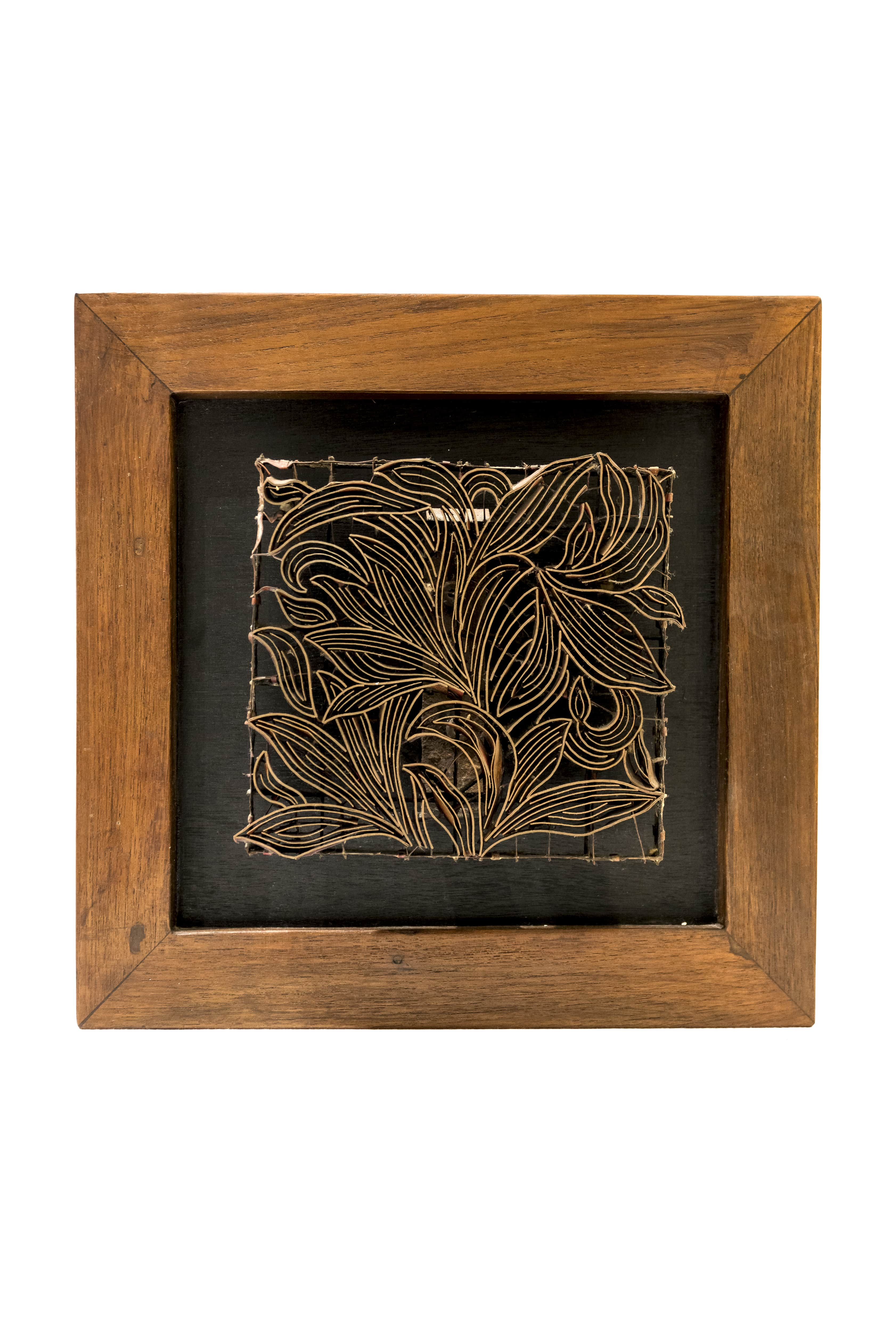 Sello decorativo de impresión para telas diseño hojas