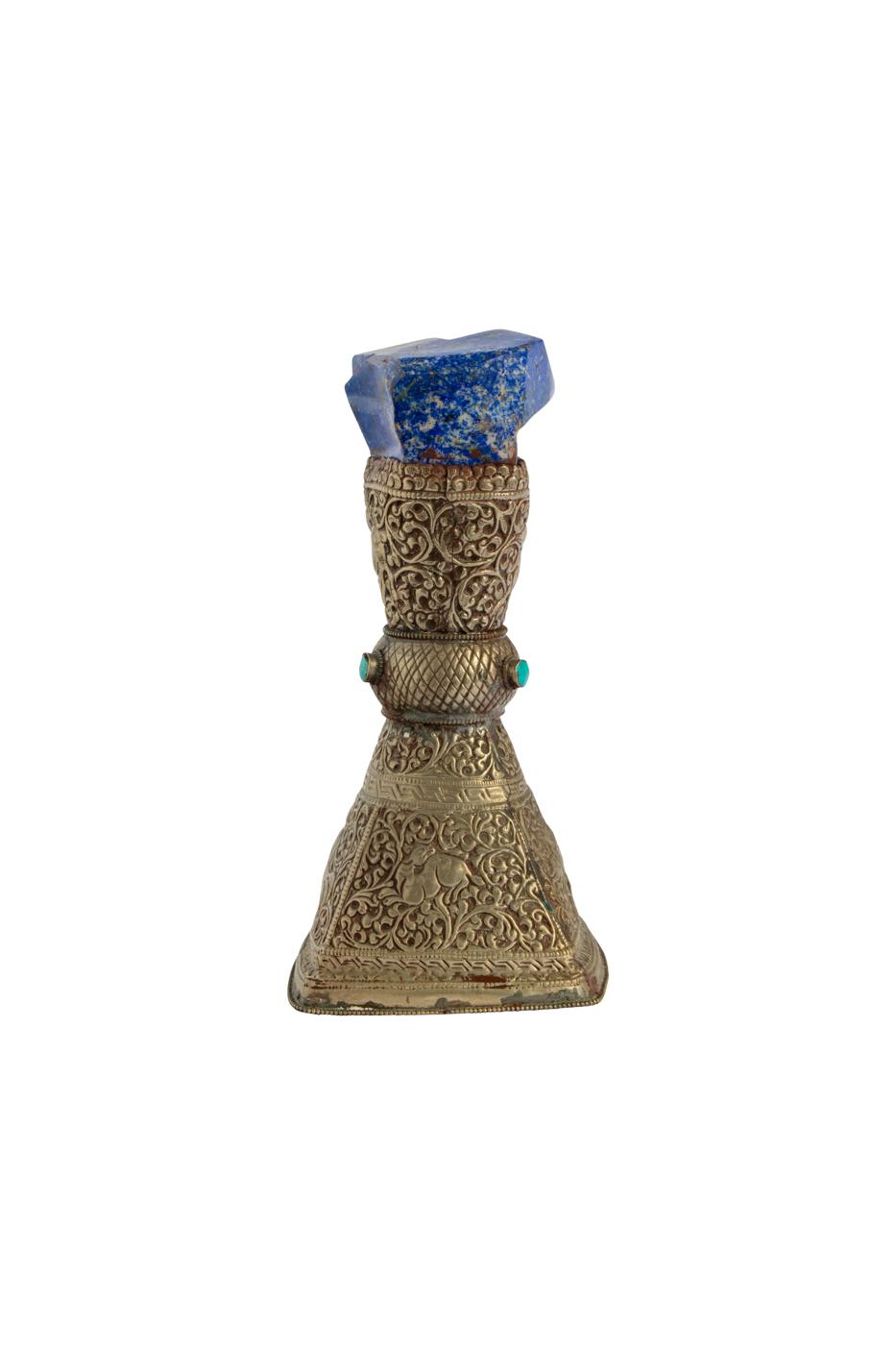 Mini pedesteal metal y lapizlazuli