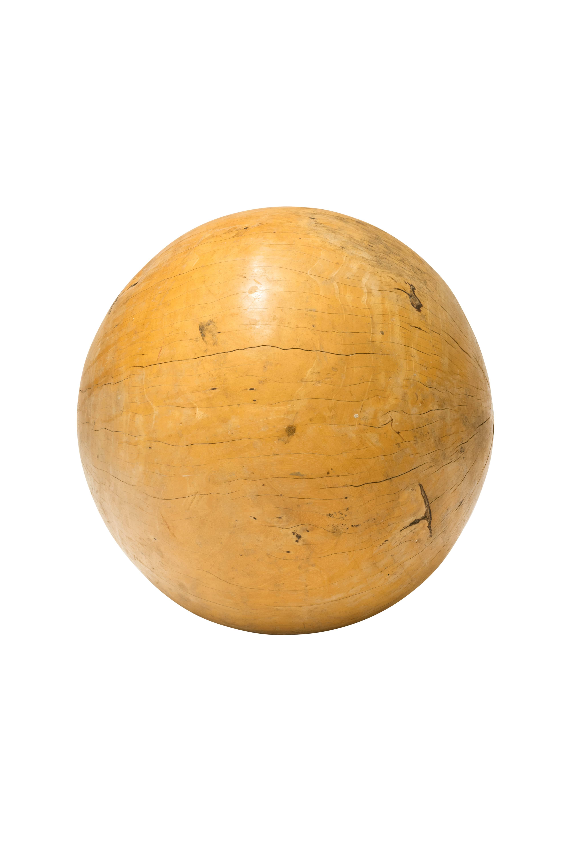 Esfera decorativa madera teka-natural