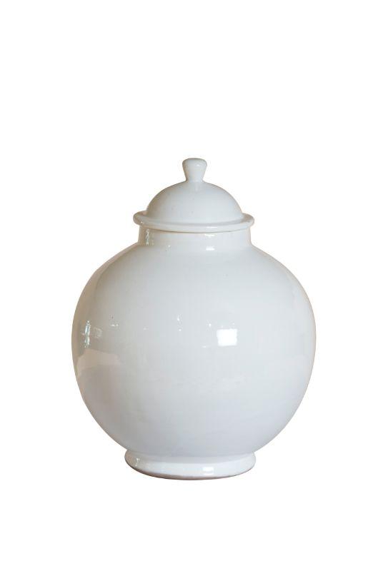 Recipiente con tapa en ceramica, 32 Cms
