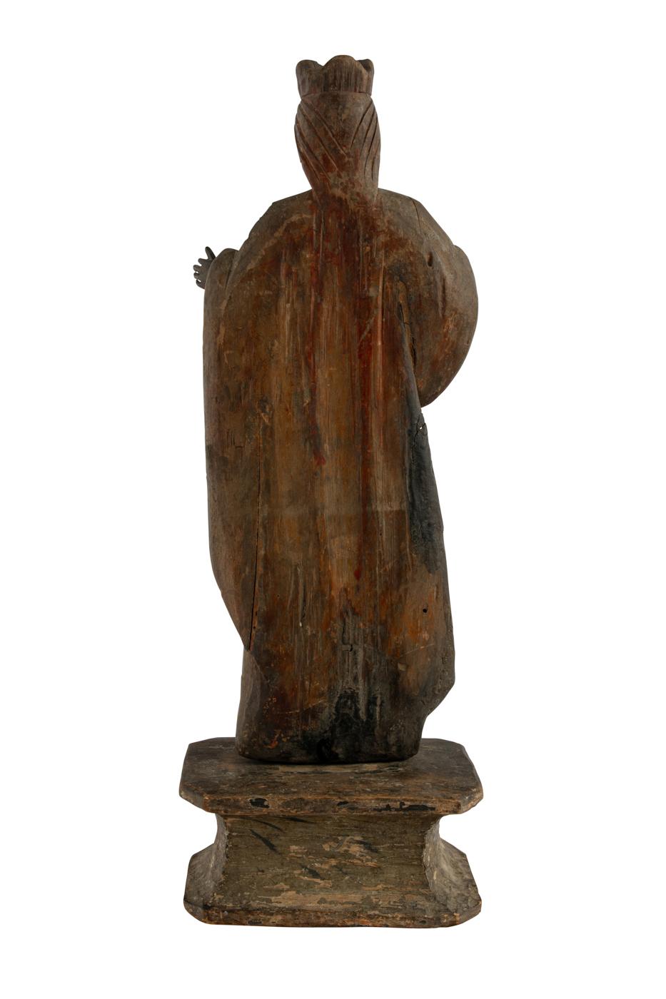 Escultura Sagrada de Filipinas en madera