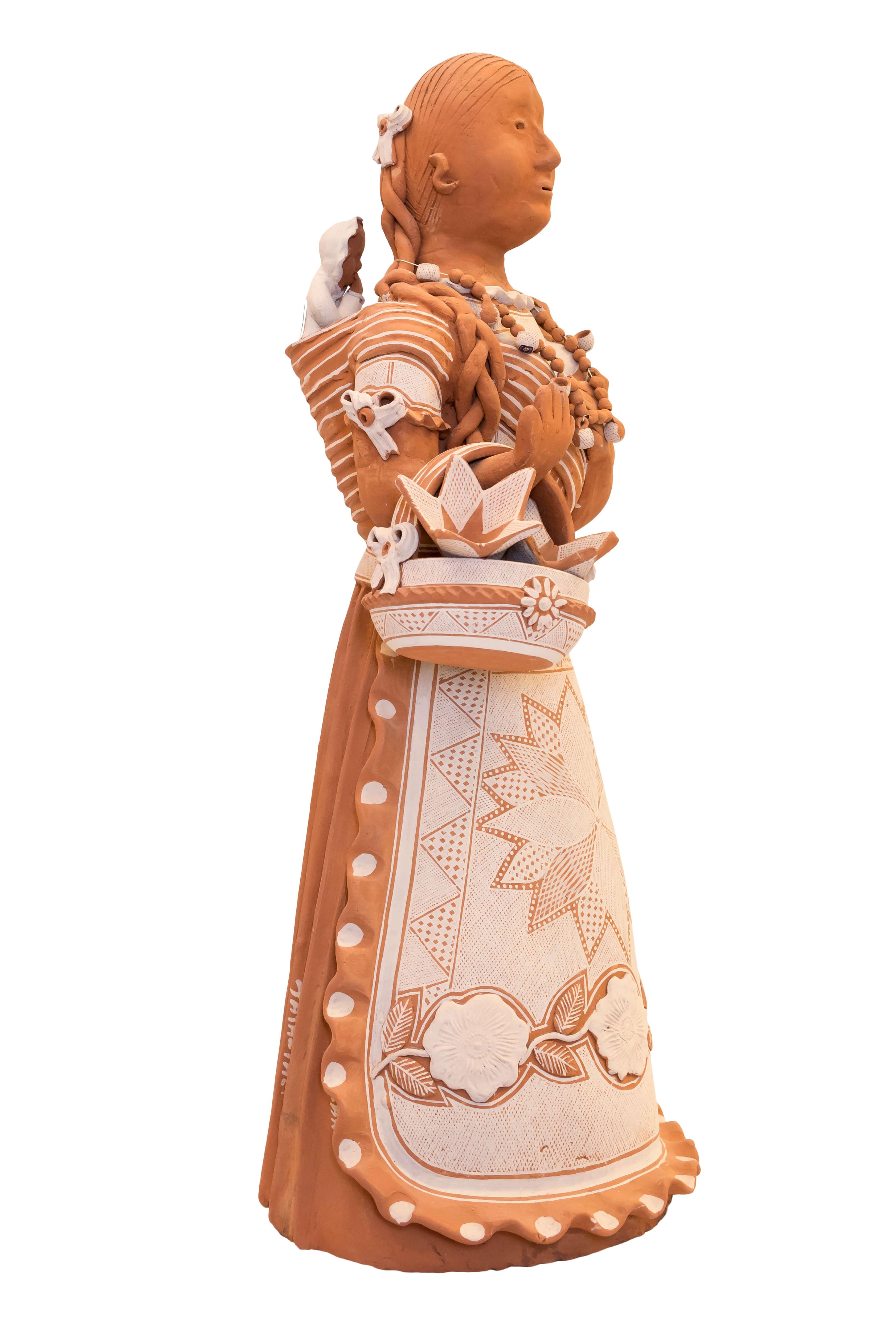 Muñeca Guare Mexicana en cerámica