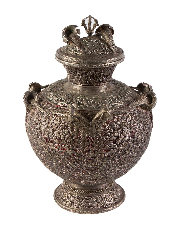 Urna Decorativa en metal