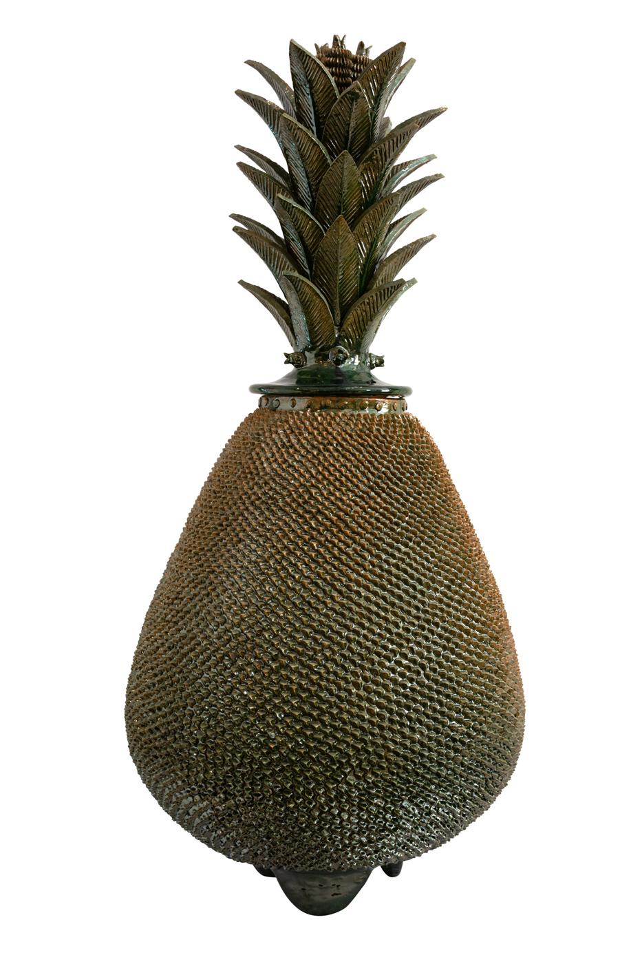 Piña Mexicana en cerámica- verde oscuro