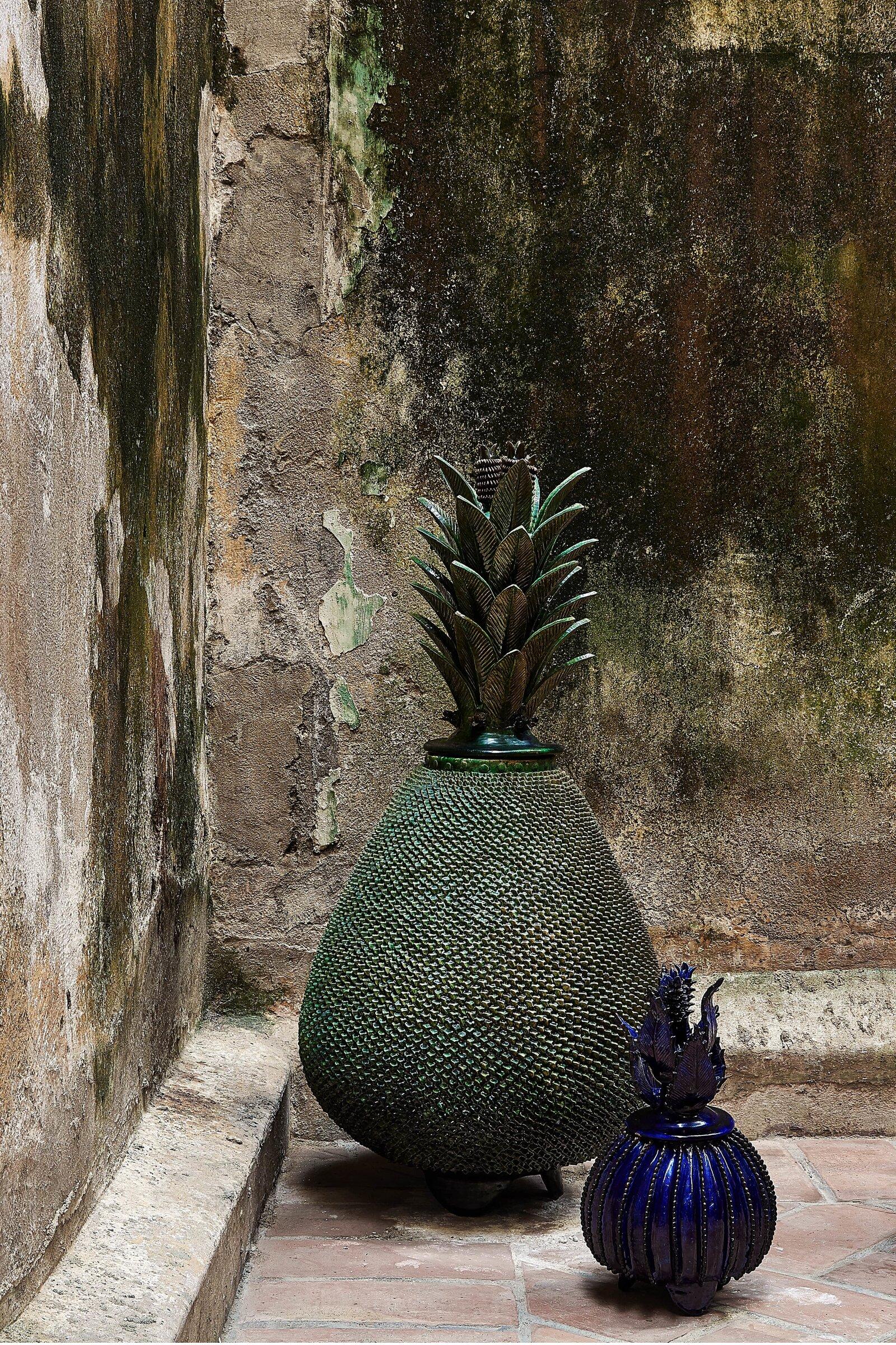 Piña Mexicana en cerámica Candelabro