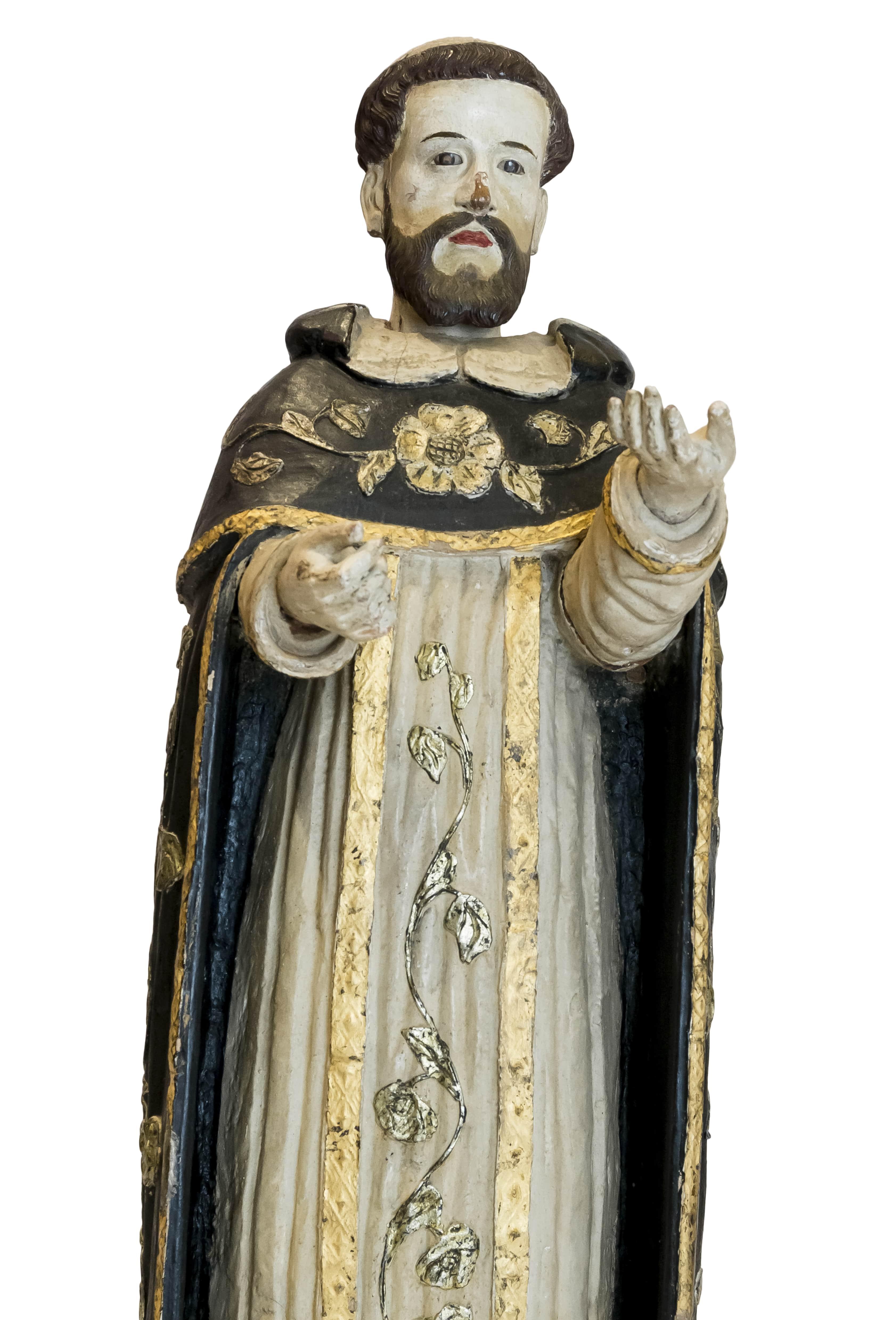 Escultura religiosa en madera San Francisco de Asís