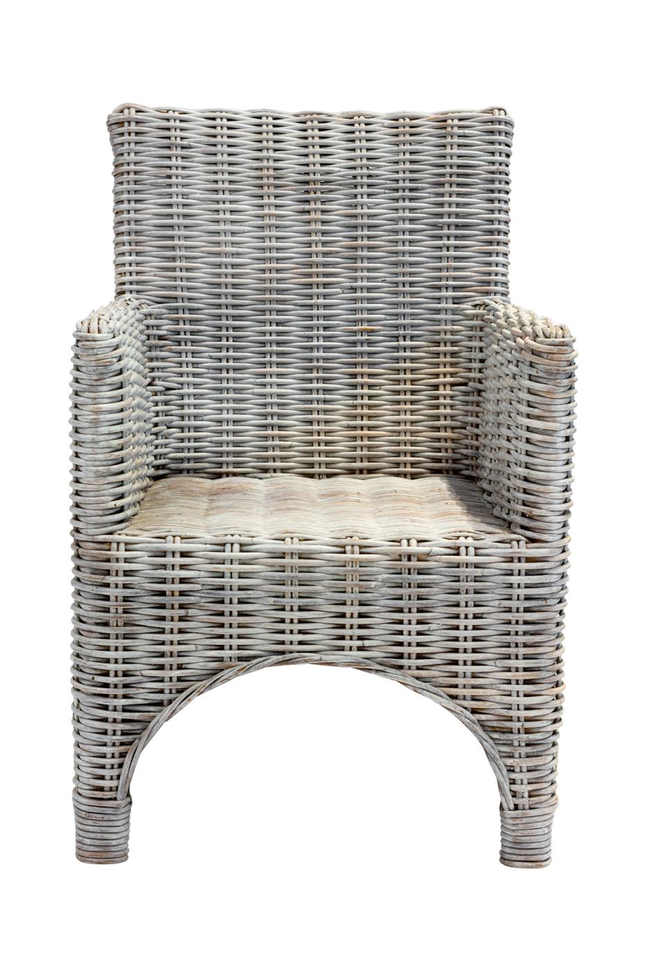 Natural rattan chair-Whitewash