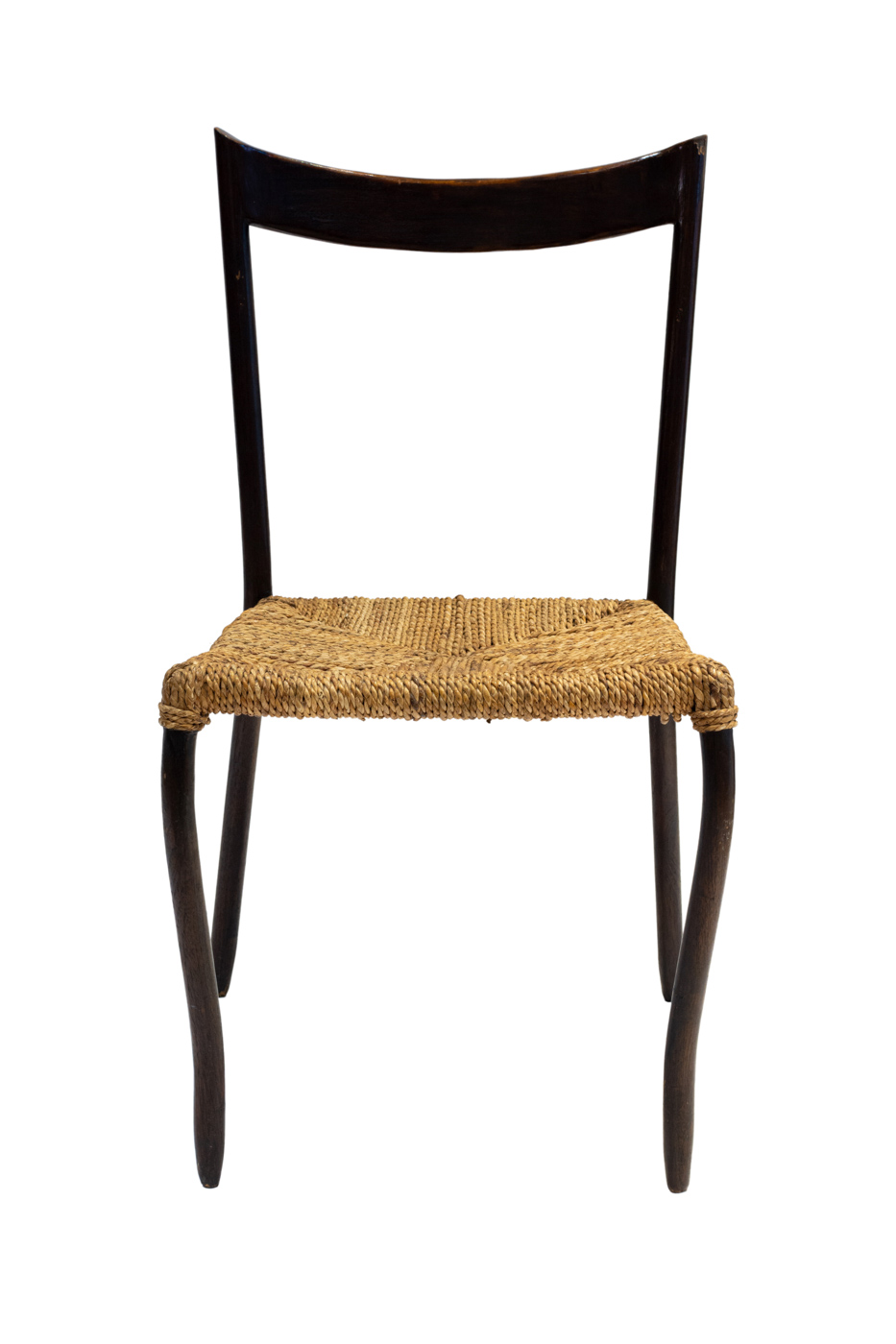 Chair in wood and banana fibre