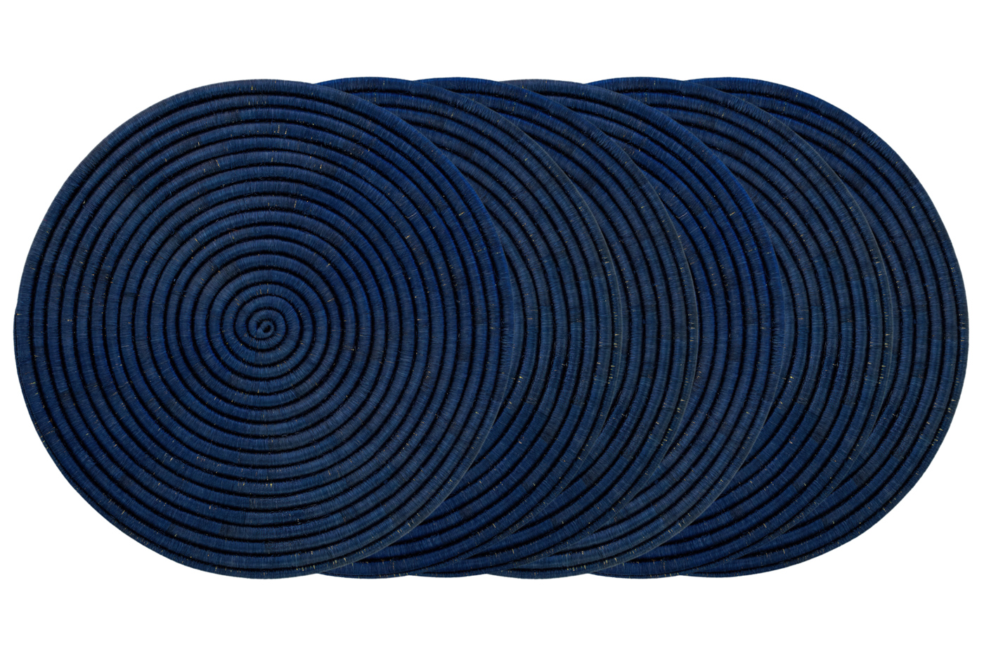 Set X6 individuales en fique-azul rey