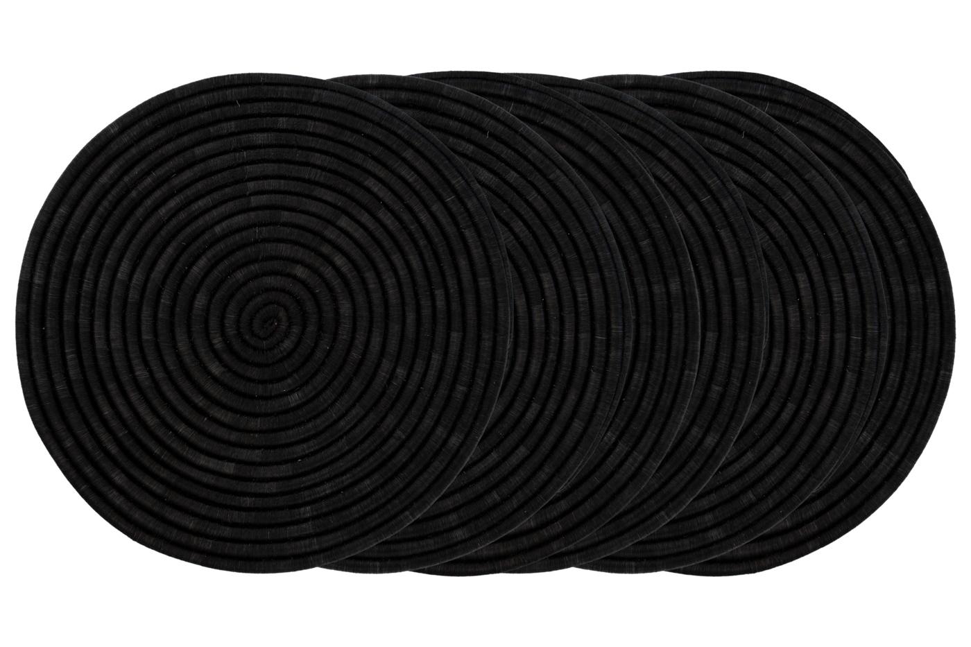 Placemat set X6 in fique-black