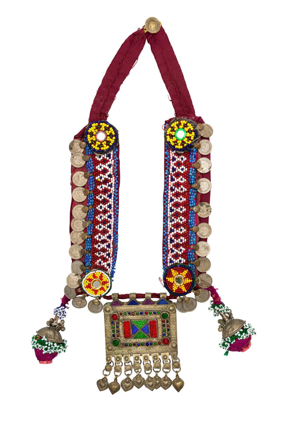 Collar tribal cuentas de chaquiras multicolor