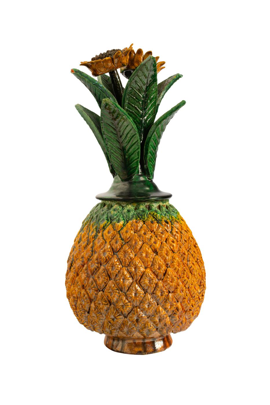 Piña Mexicana en cerámica-amarilla