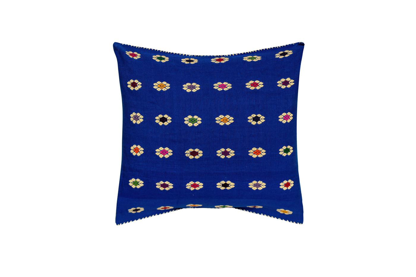 Cojín Mexicano en algodón con patrones florales