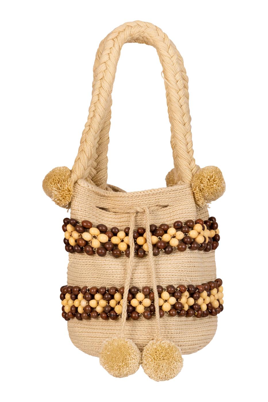 Mochila Wayuu semillas de tagua
