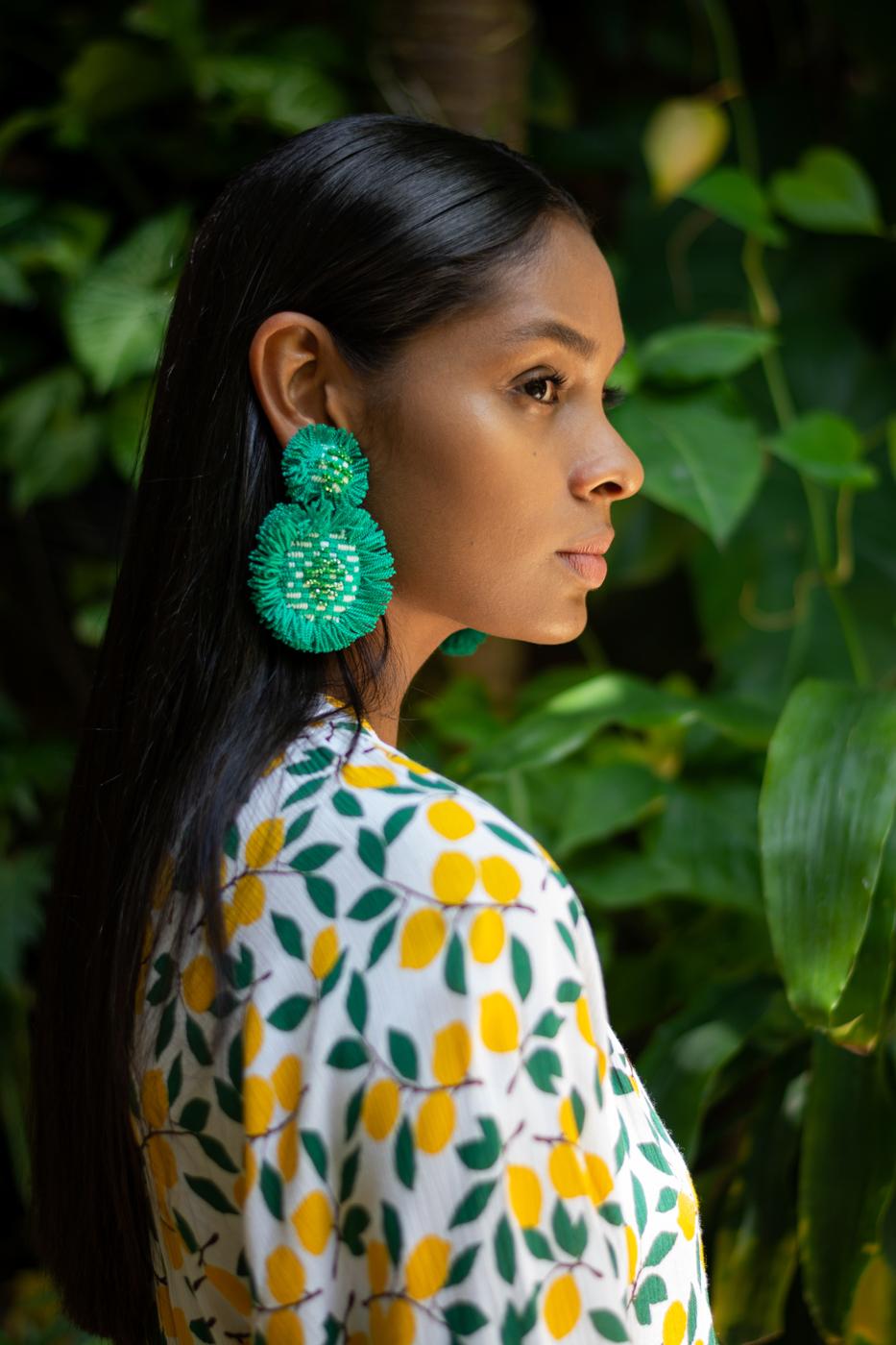 Arete San Jacinto con flecos verde