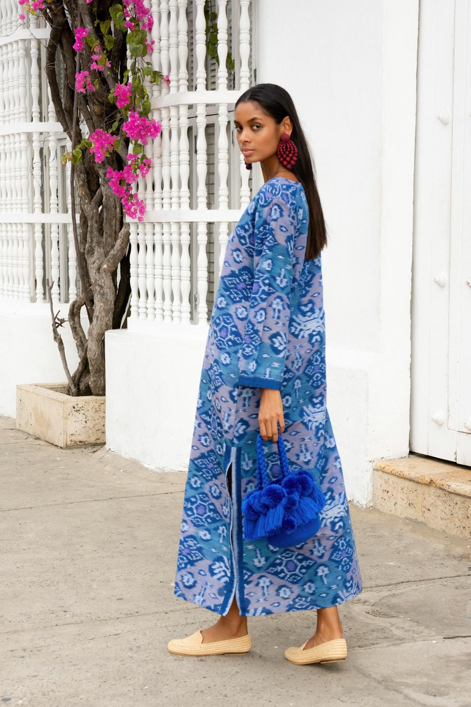 Vestido en tela de ikat