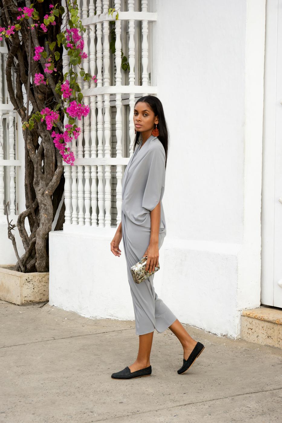 Silk-grey tunic