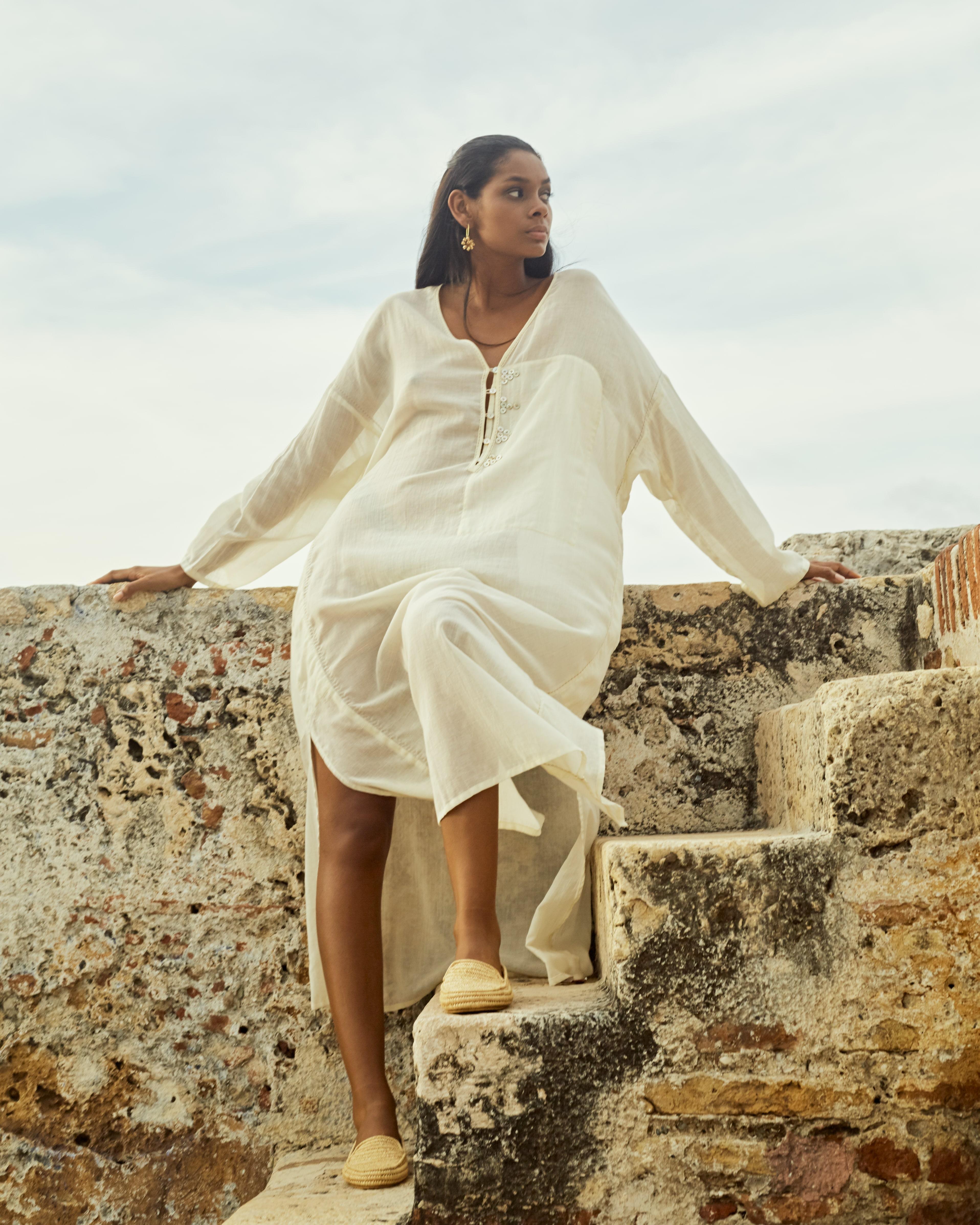 Egyptian cotton dress