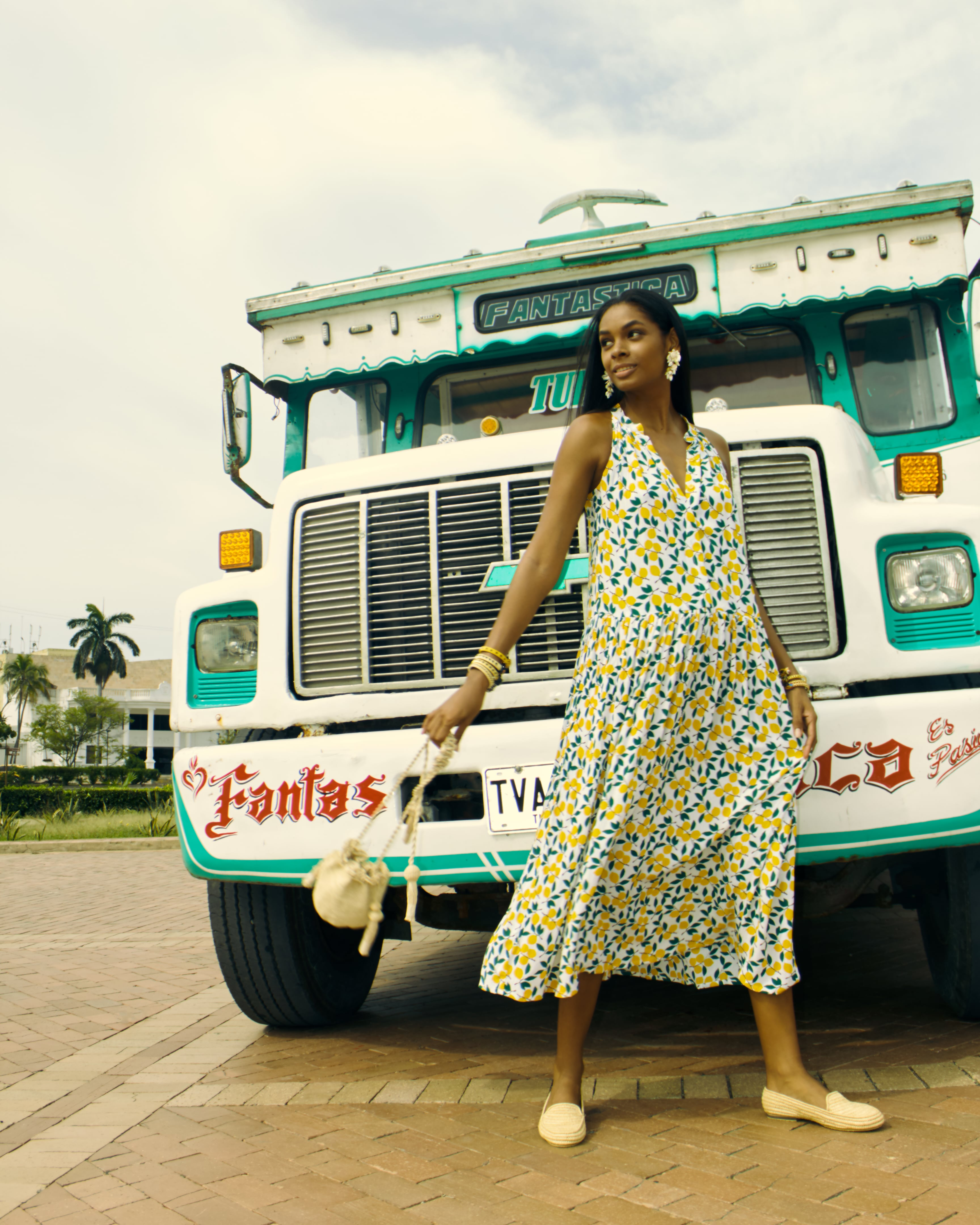 Bertille sleeveless cotton dress