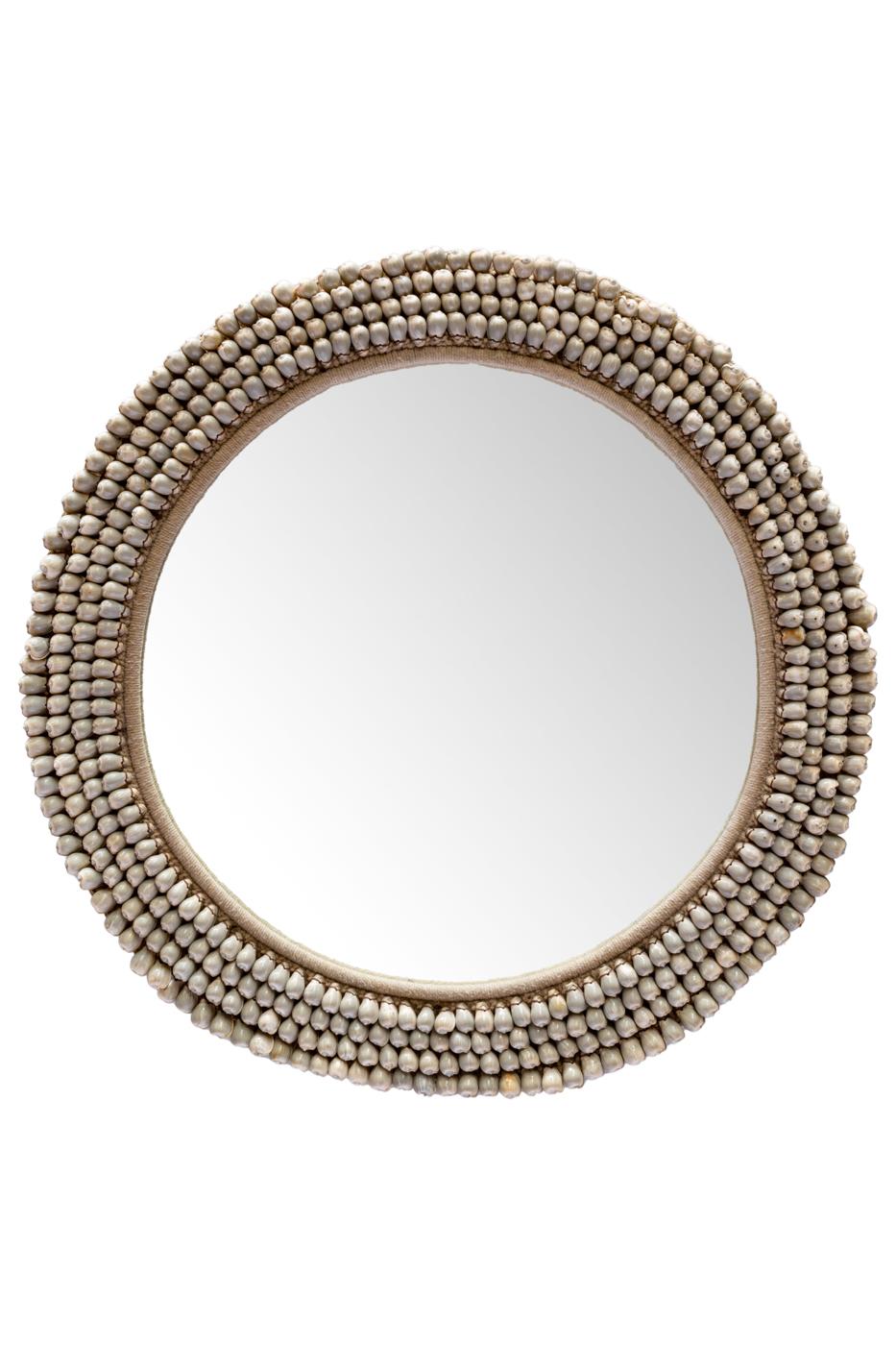 Espejo conchas de caracolitos naturales
