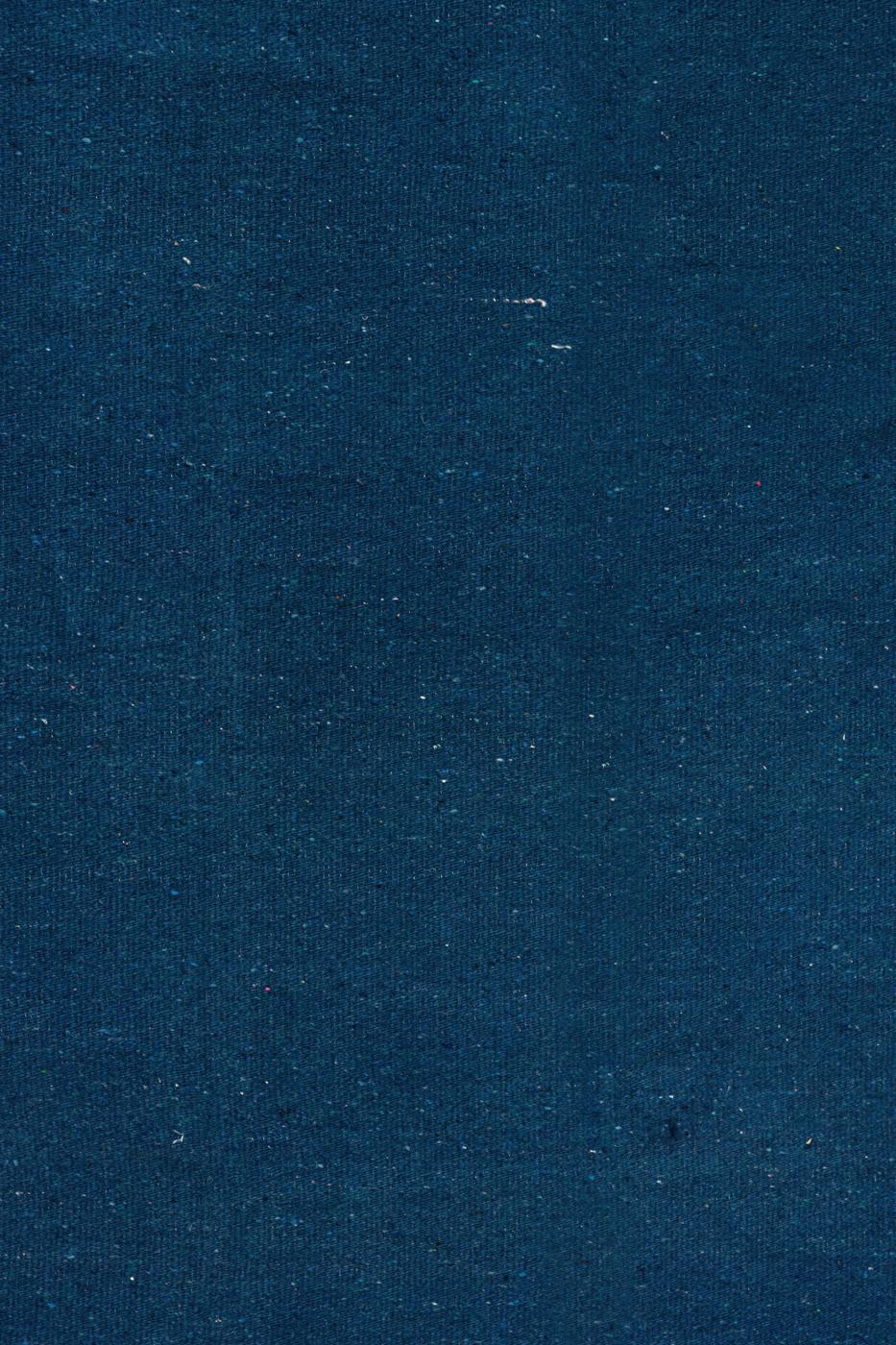Cubrecama en algodón unicolor-azul rey
