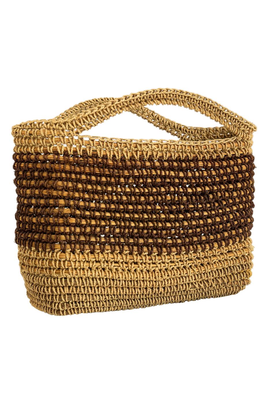 Bolso canasto en fibra de moriche