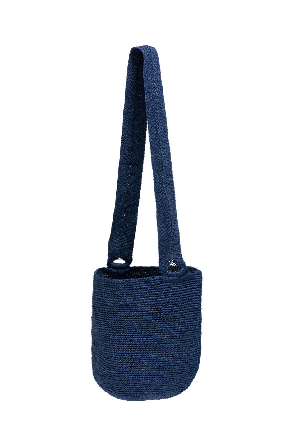 Mochila calceta de plátano-azul navy
