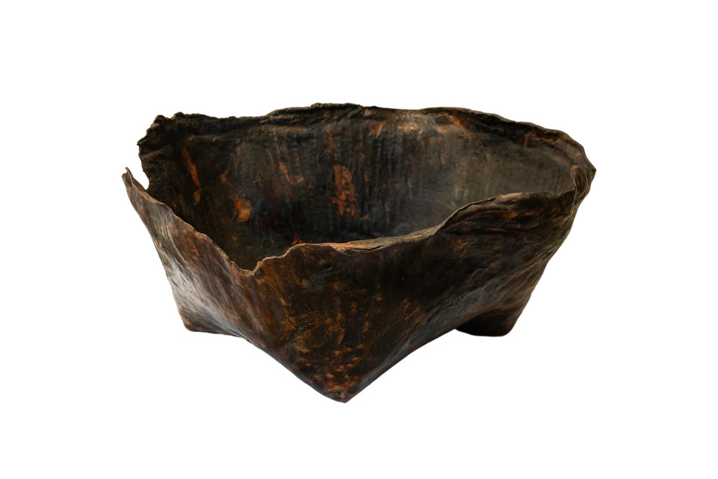 Paila de cuero envejecido-68 Cm