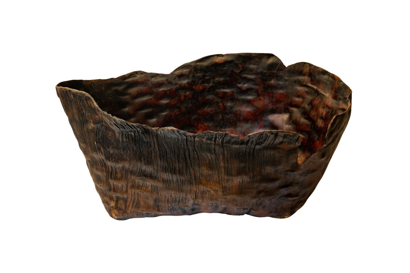 Paila de cuero envejecido-54 Cm