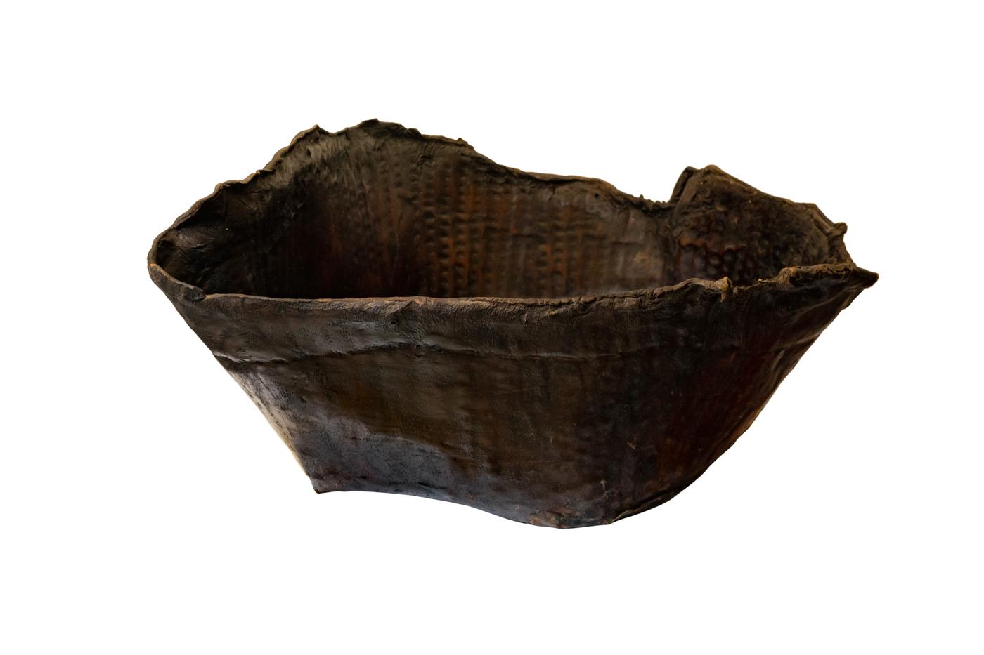 Paila de cuero envejecido-49 Cm