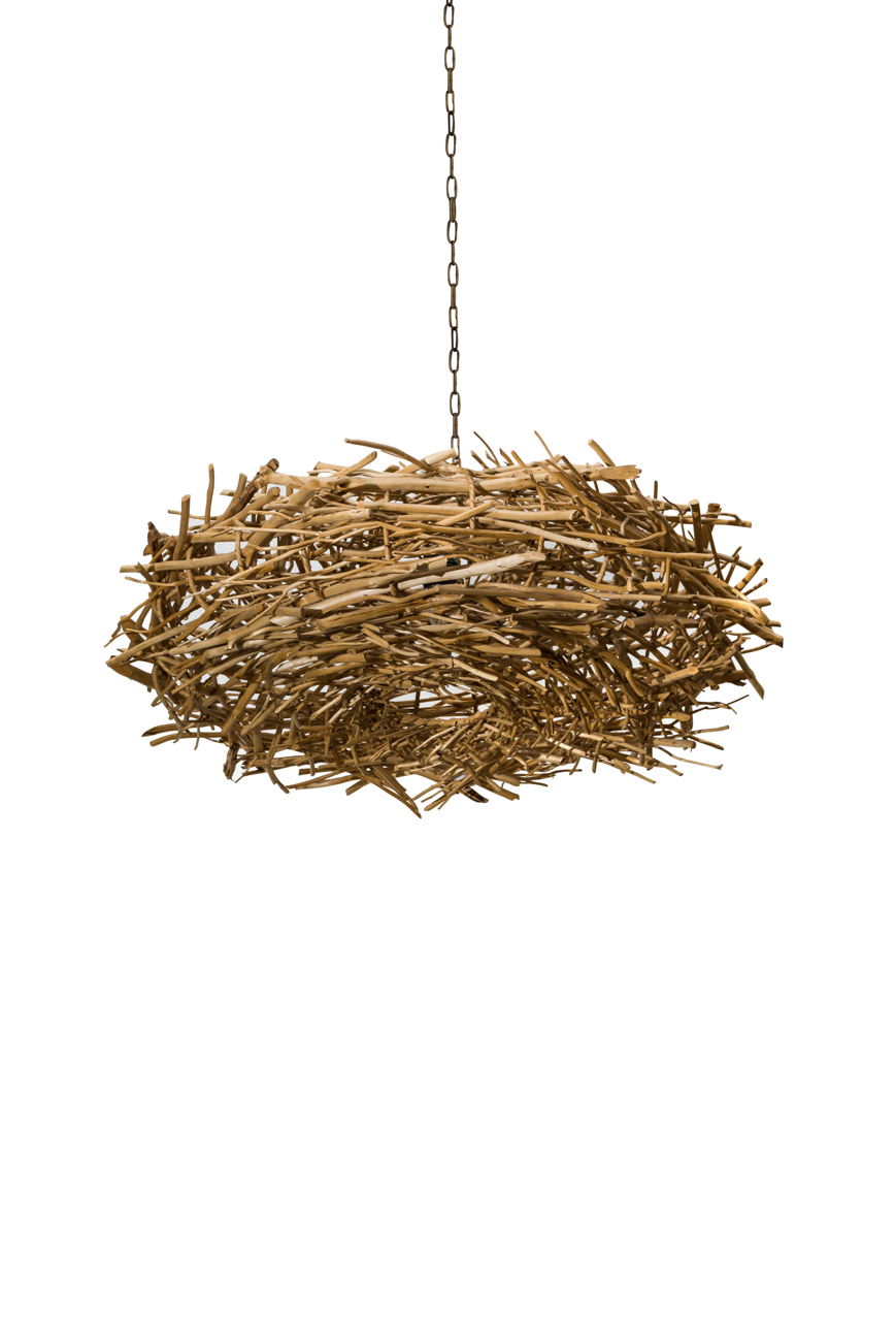 Lámpara colgante nido en rattan-pequeña