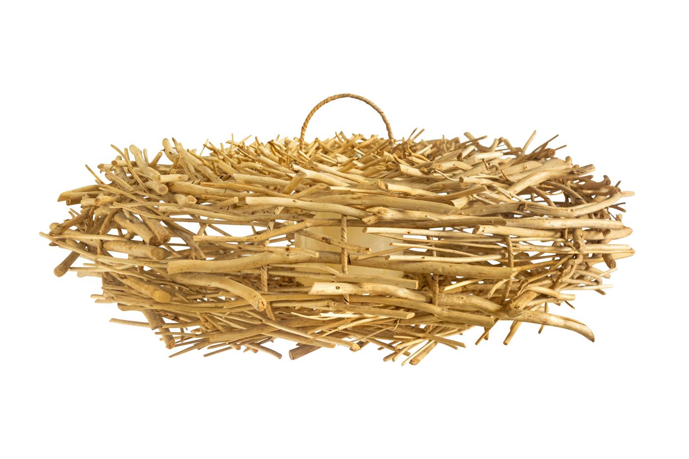 Lámpara colgante nido en rattan-grande