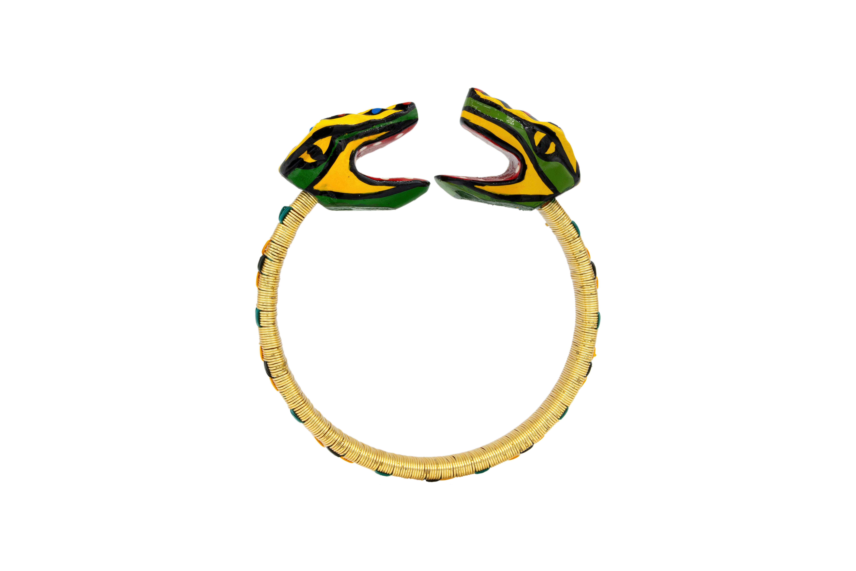 Brazalete Garabato werregue dorado diseño serpiente