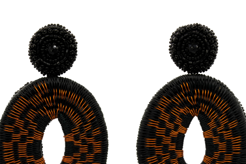 Arete Werregue Bahias con hilos de cobre