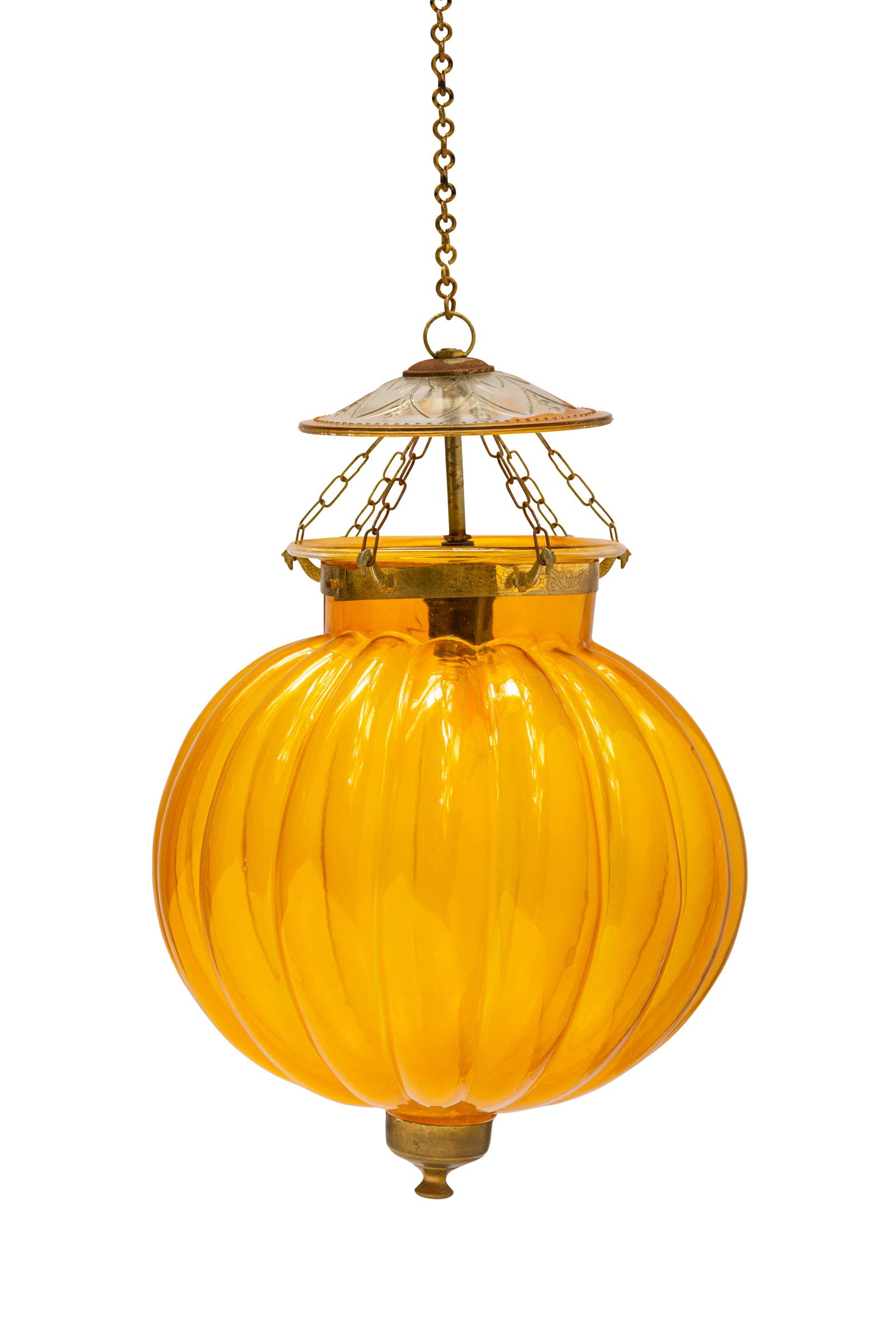 Lámpara Hundi de vidrio amarillo
